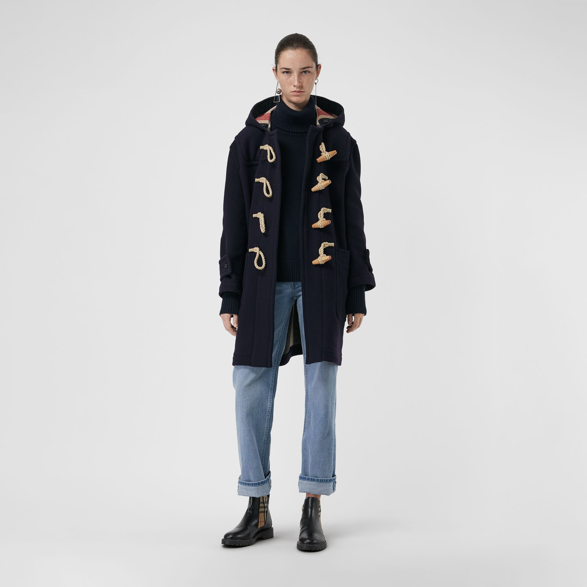 The Greenwich Duffle Coat in Navy - Women | Burberry Australia - gallery image 0
