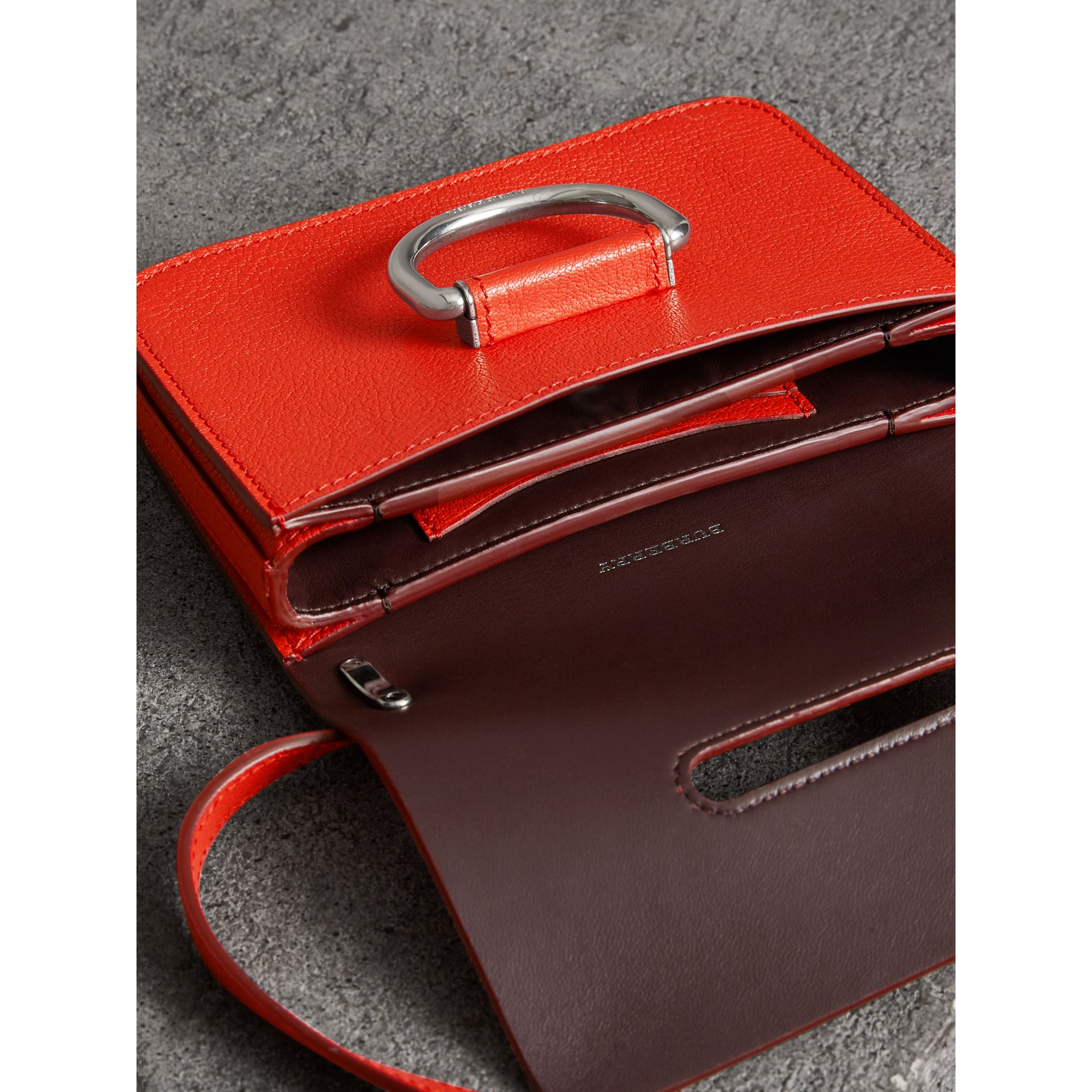 The Mini Leather D-Ring Bag in Bright Red - Women | Burberry - gallery image 5