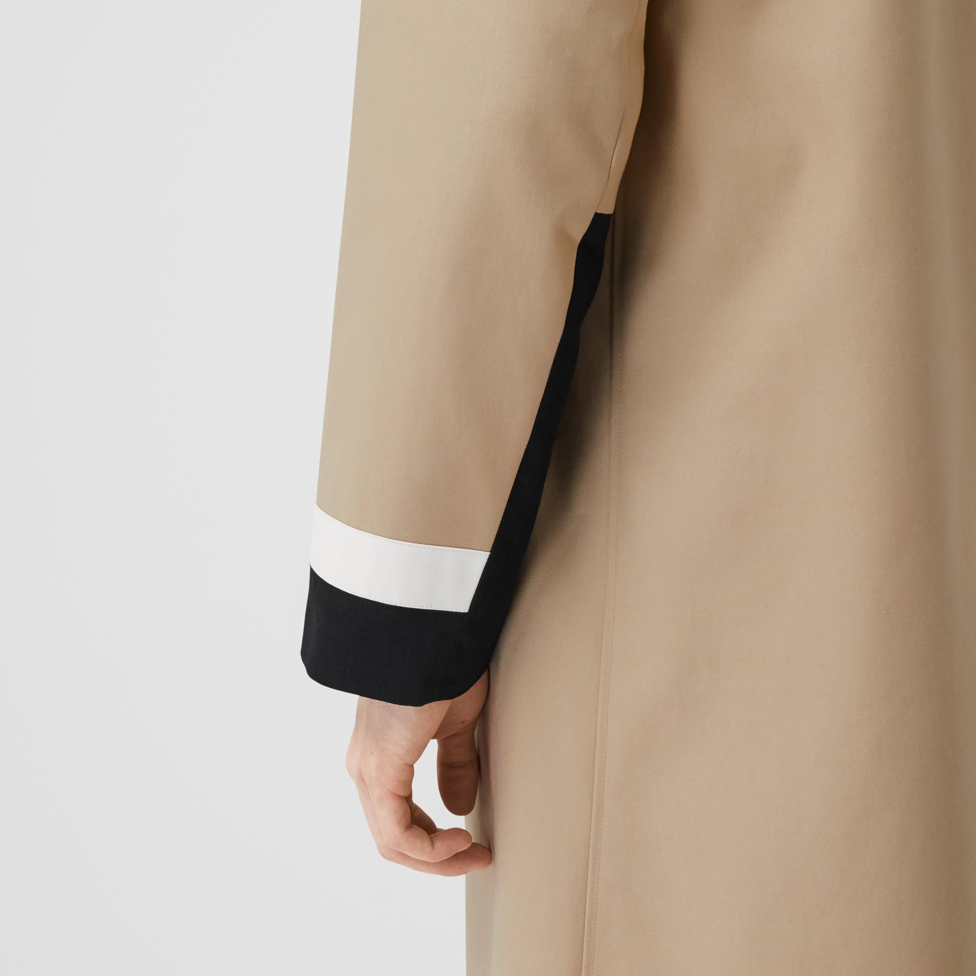 Stripe Detail Cotton Gabardine Car Coat in Soft Fawn   Burberry United Kingdom - gallery image 5