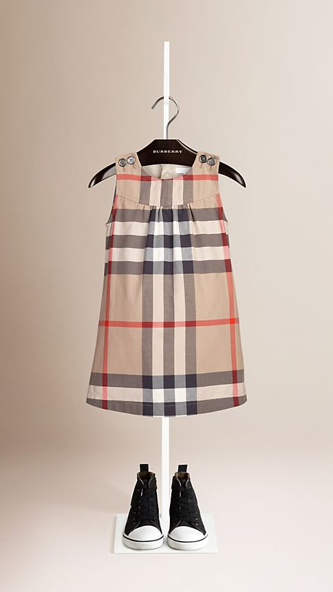 New classic Check Cotton Sleeveless Dress - Image 1