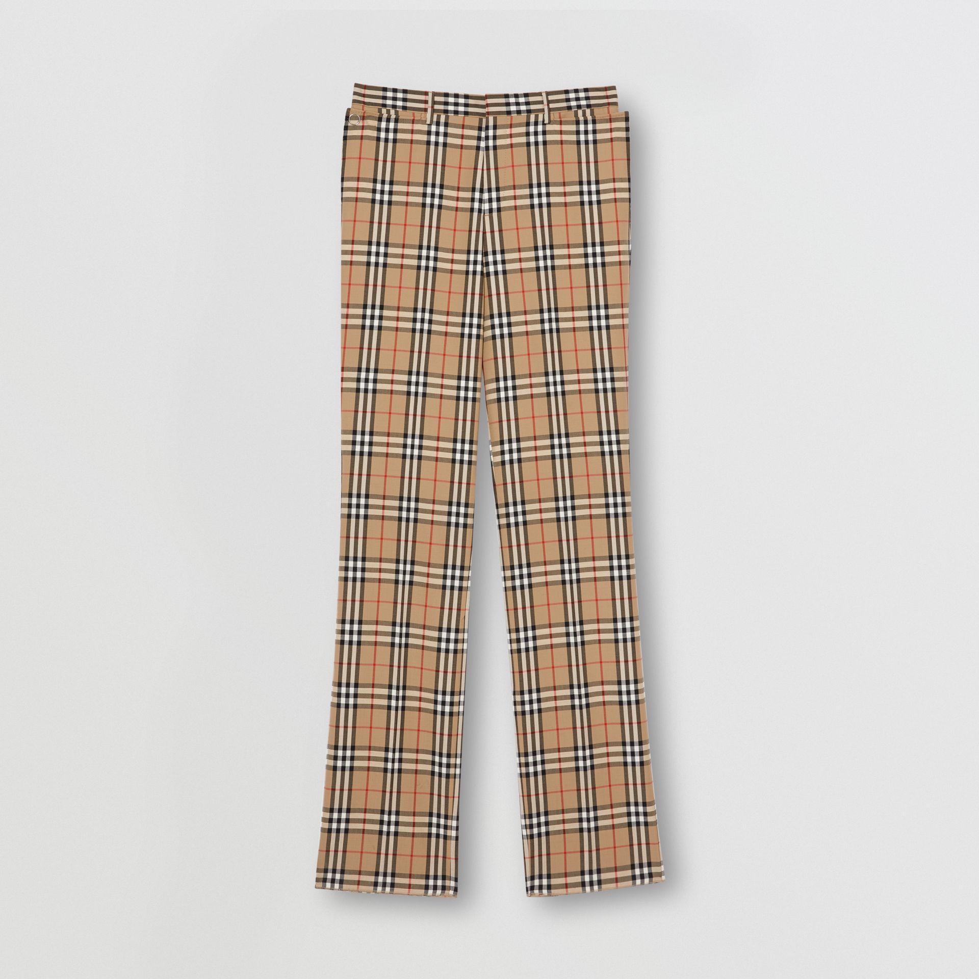 Vintage Check Wool Mohair Tailored Trousers in Archive Beige - Men | Burberry United Kingdom - gallery image 3