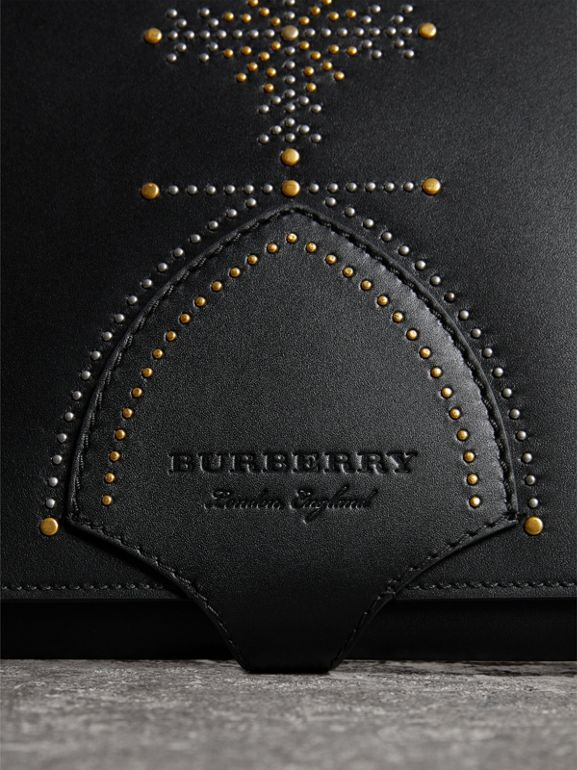 Riveted Leather A4 Document Case in Black | Burberry - cell image 1