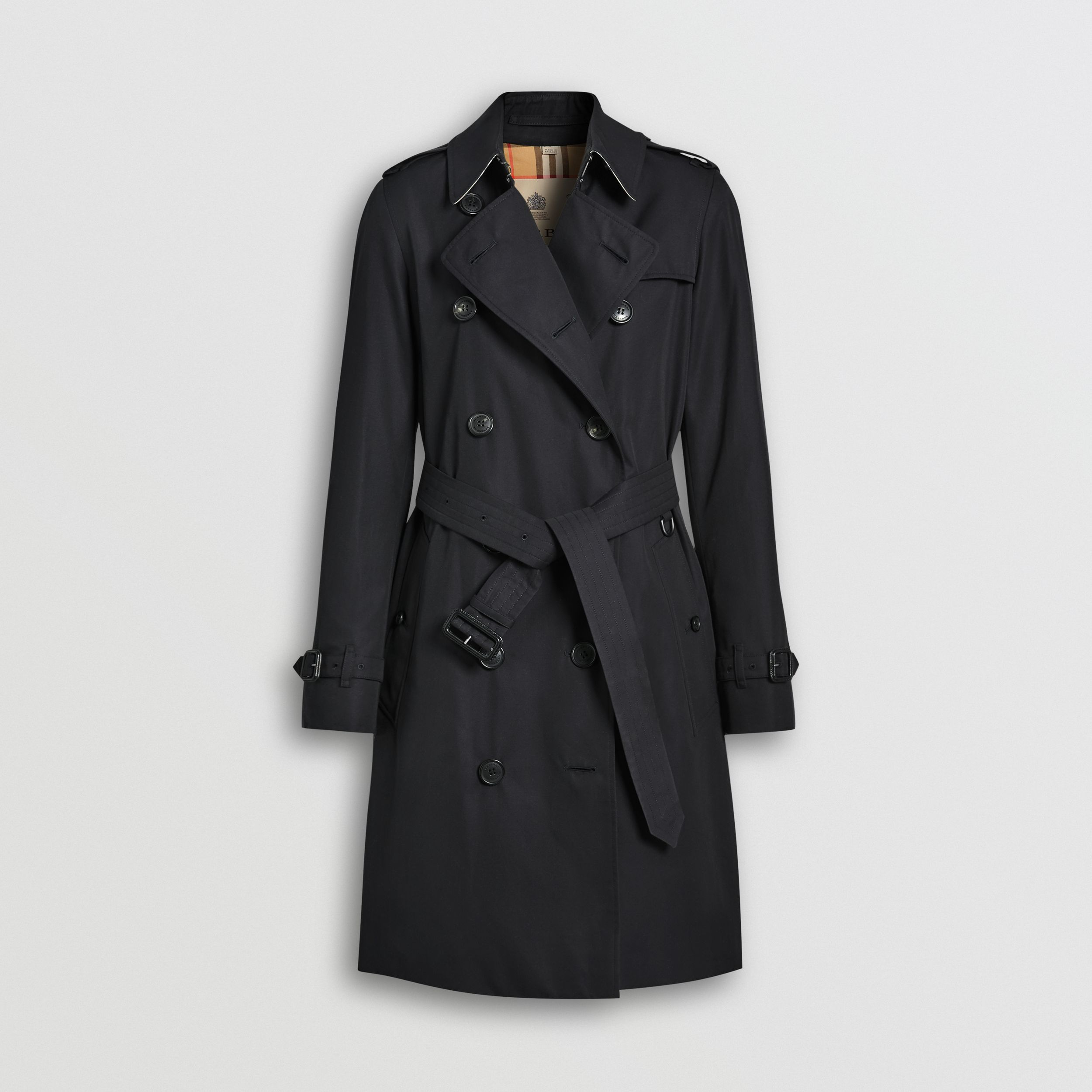 The Mid-length Kensington Heritage Trench Coat in Midnight - Women | Burberry - 4