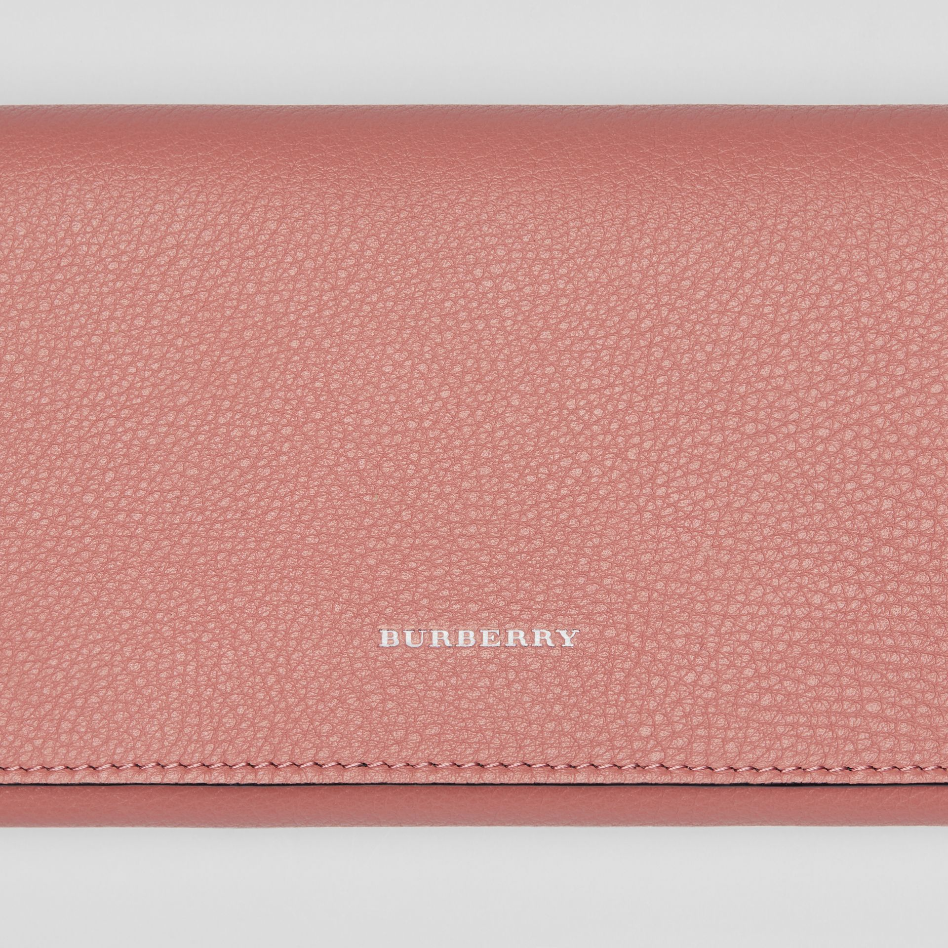 Two-tone Leather Continental Wallet in Dusty Rose - Women | Burberry - gallery image 1