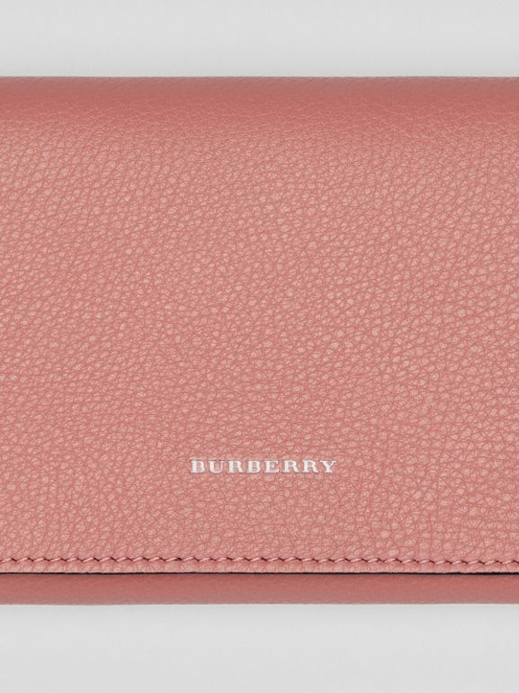 Two-tone Leather Continental Wallet in Dusty Rose - Women | Burberry United Kingdom - cell image 1