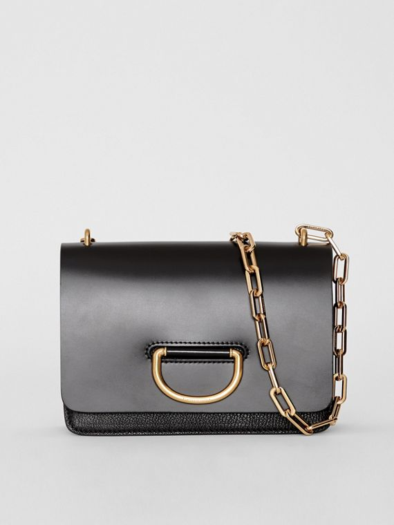 Petit sac The D-ring en cuir (Noir)