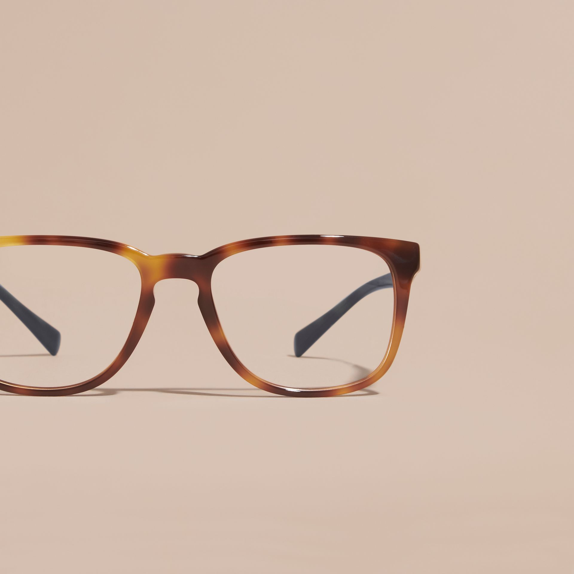 Square Optical Frames in Tortoise Shell - gallery image 3