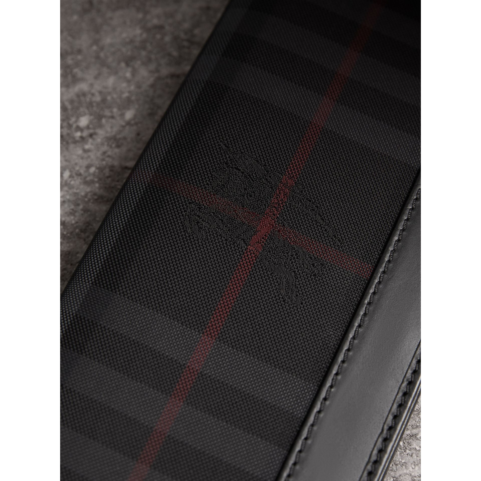 Horseferry Check Continental Wallet in Charcoal/black - Men | Burberry - gallery image 2