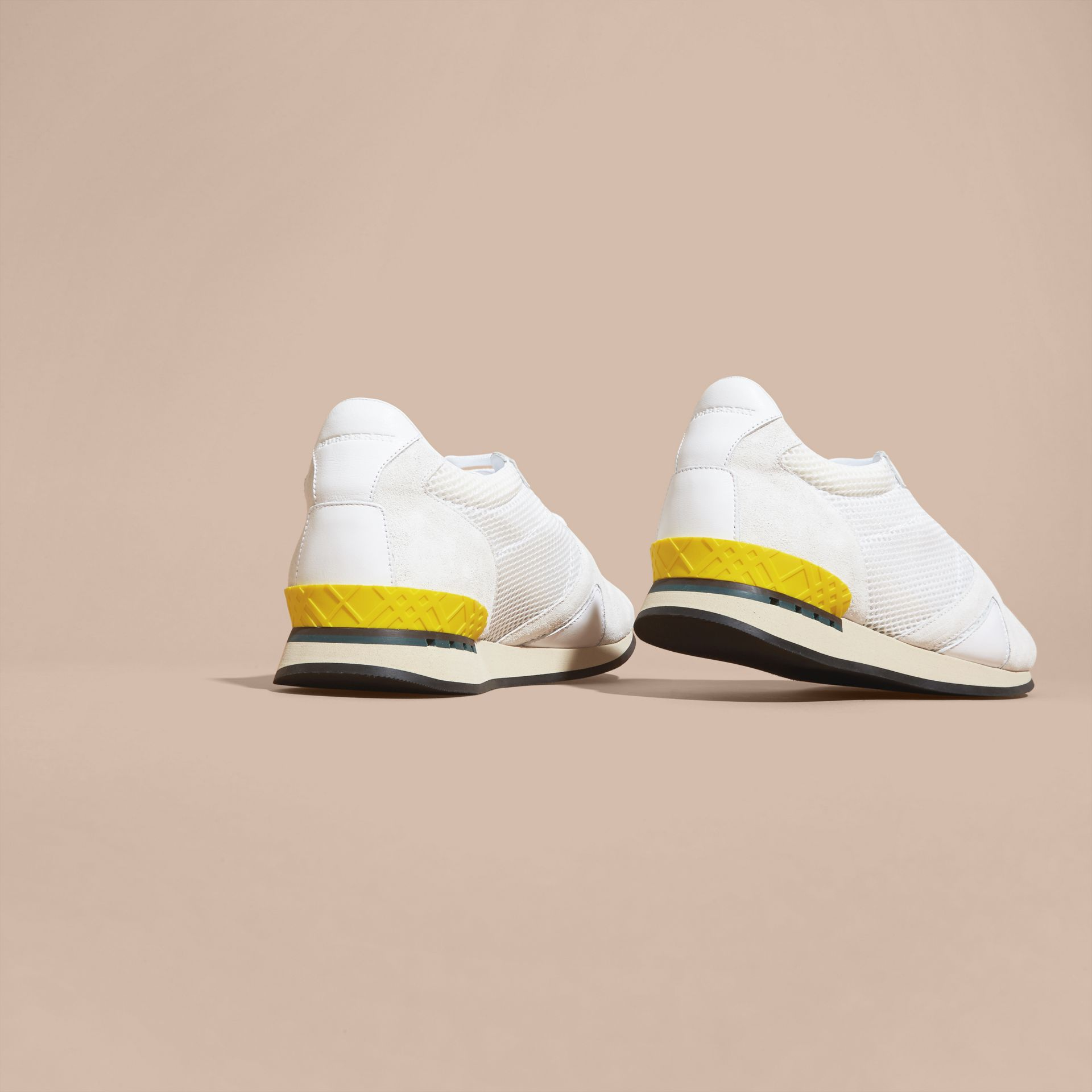 White The Field Sneaker in Suede and Mesh White - gallery image 4
