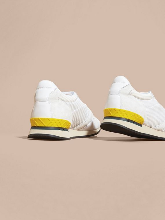 White The Field Sneaker in Suede and Mesh White - cell image 3