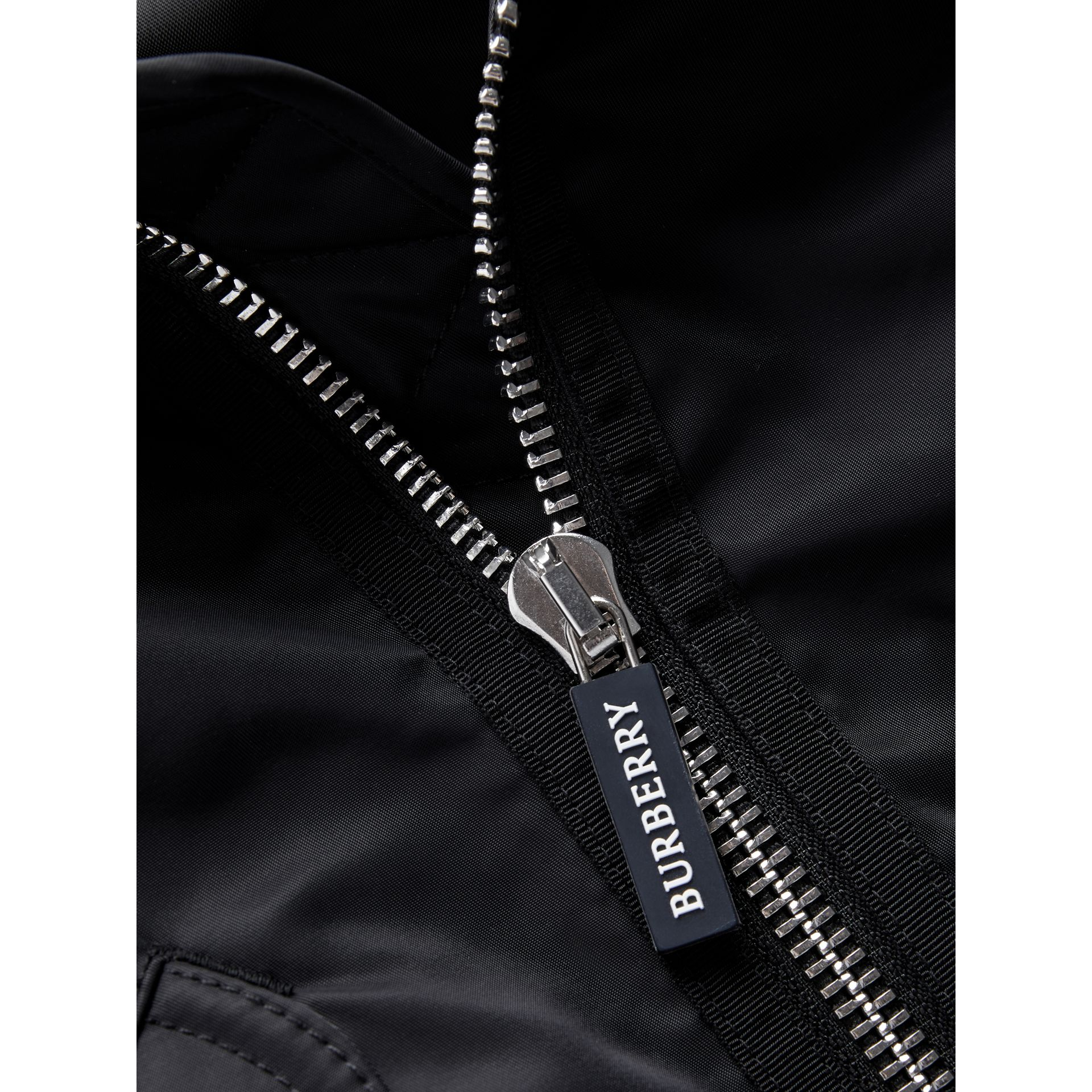 Lightweight Nylon Bomber Jacket in Black | Burberry - gallery image 1