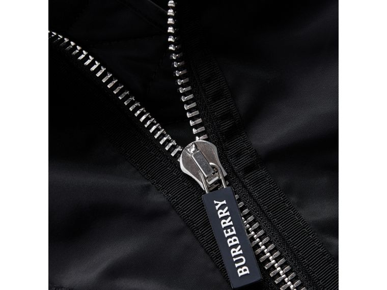 Lightweight Nylon Bomber Jacket in Black - Boy | Burberry - cell image 1