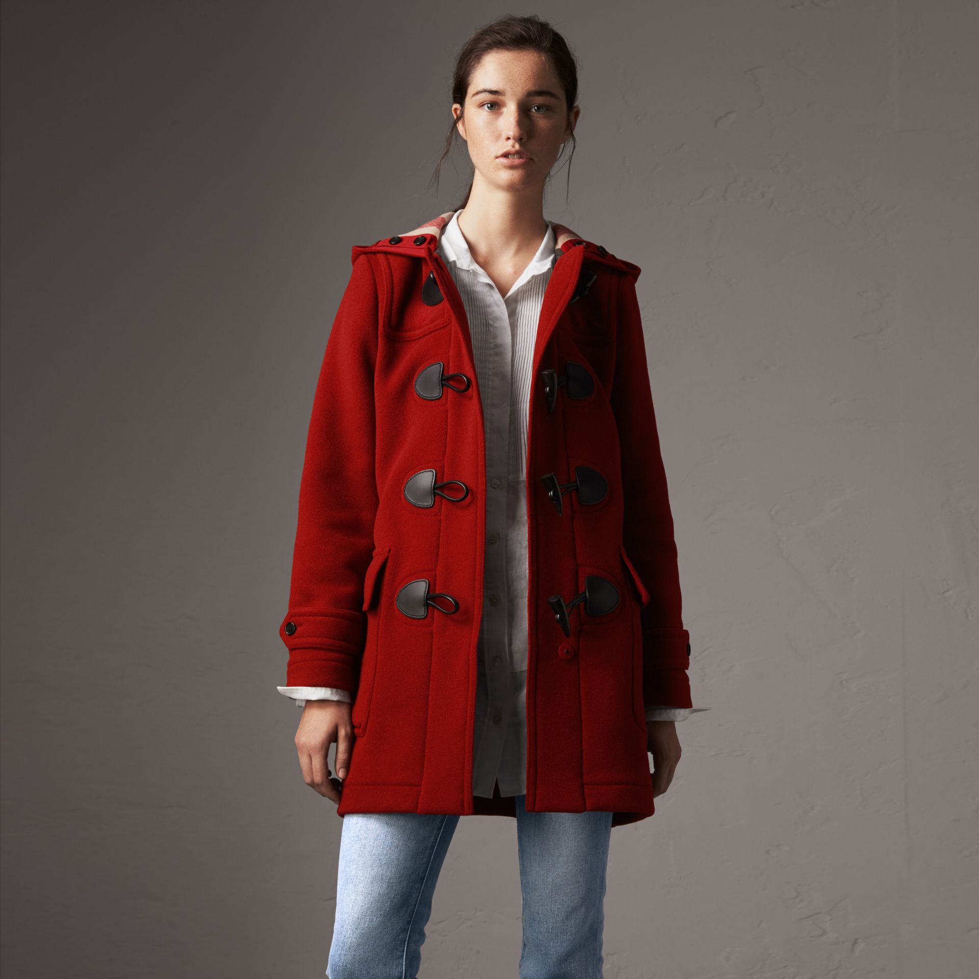 The Mersey Duffle Coat in Parade Red - Women | Burberry - gallery image 0