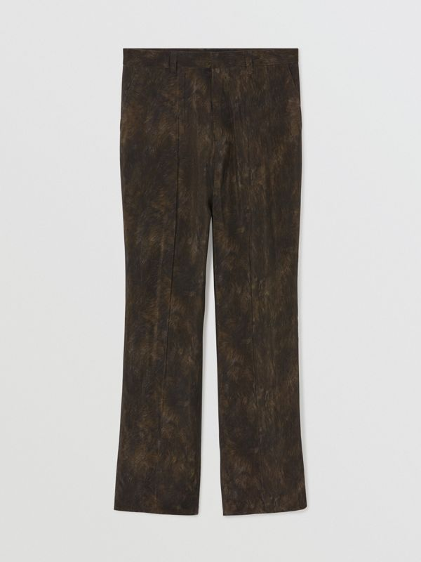 Relaxed Fit Animal Print Trousers in Brown | Burberry - cell image 3