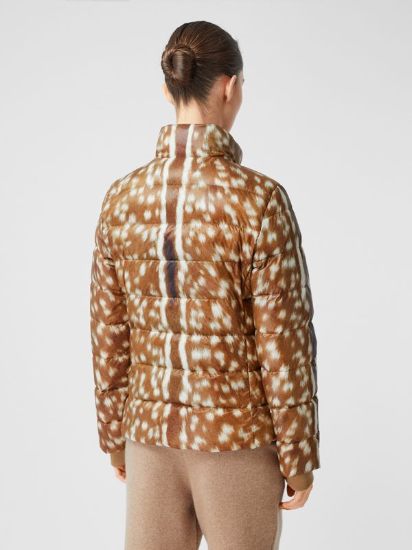 Deer Print Puffer Jacket in Honey - Women | Burberry United Kingdom - cell image 2