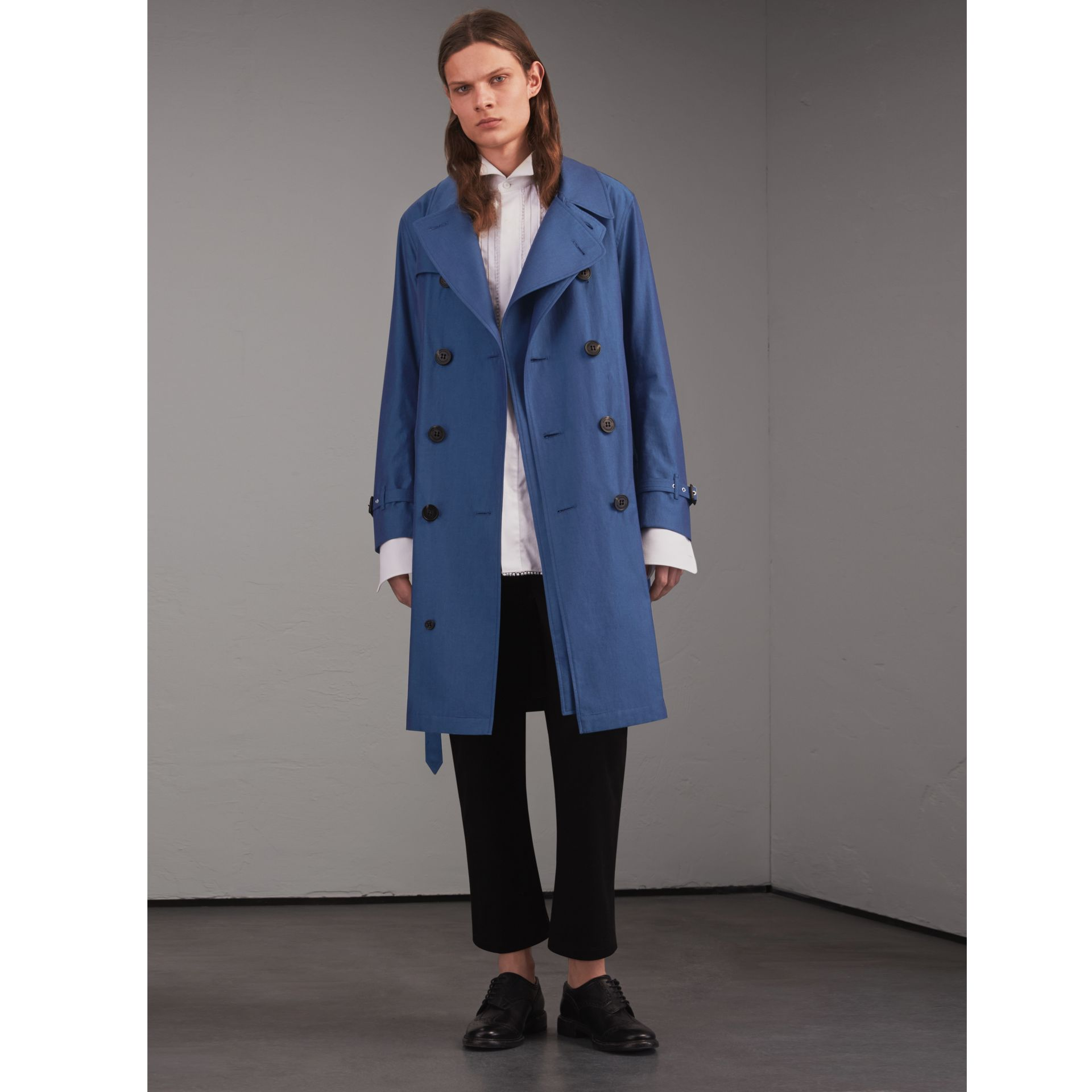 Tropical Gabardine Cotton Trench Coat - gallery image 1