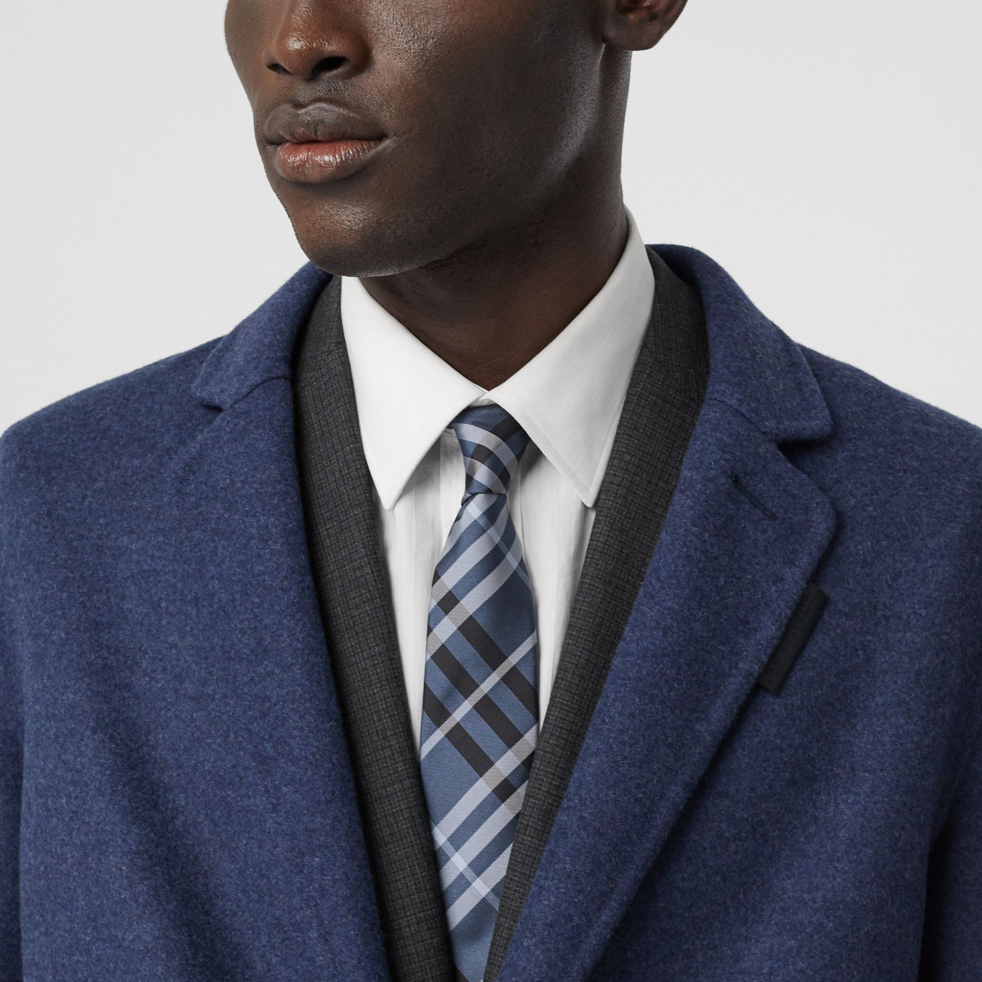 Classic Cut Vintage Check Silk Tie in Steel Blue - Men | Burberry Hong Kong S.A.R - gallery image 2