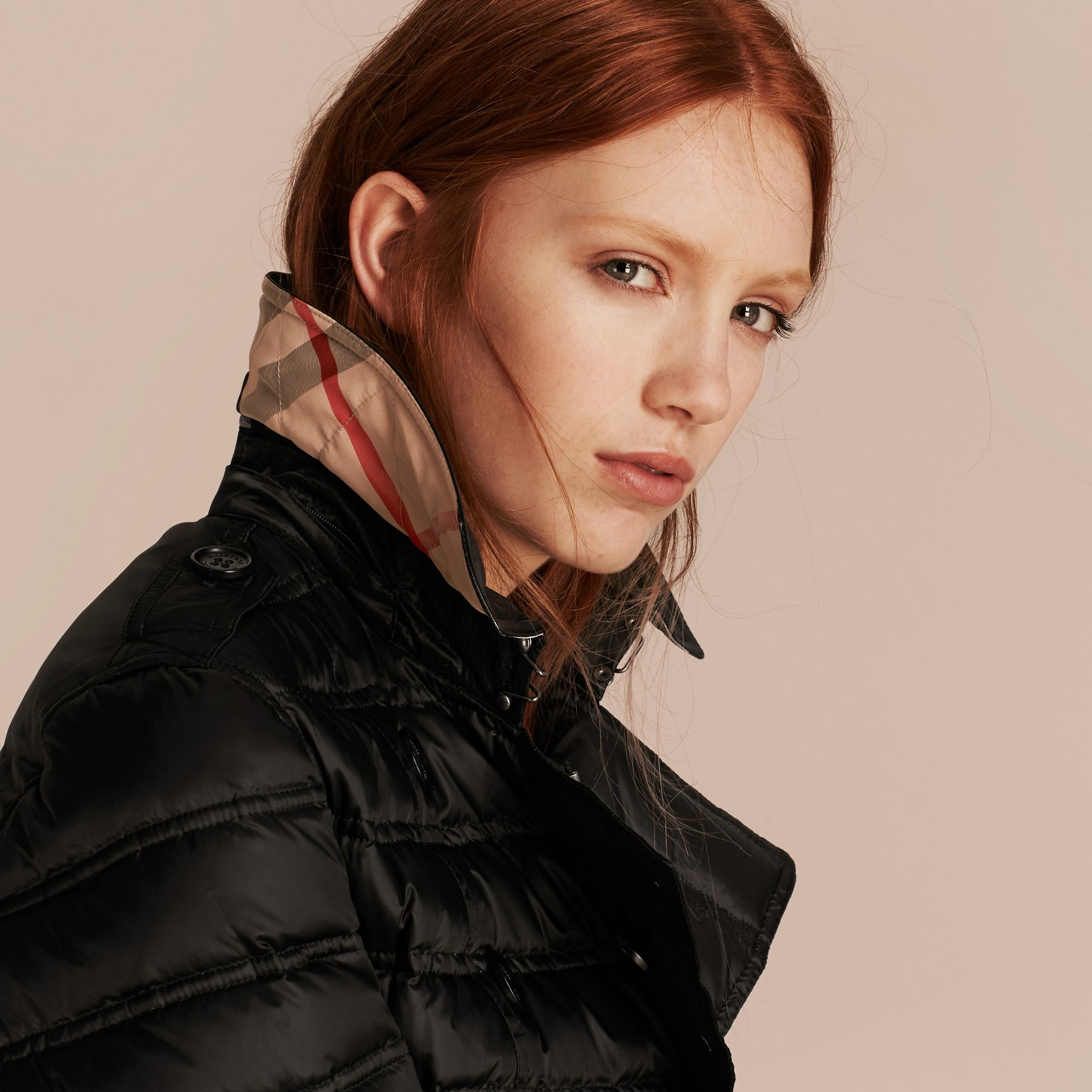 Black Down-filled Puffer Coat Black - gallery image 5