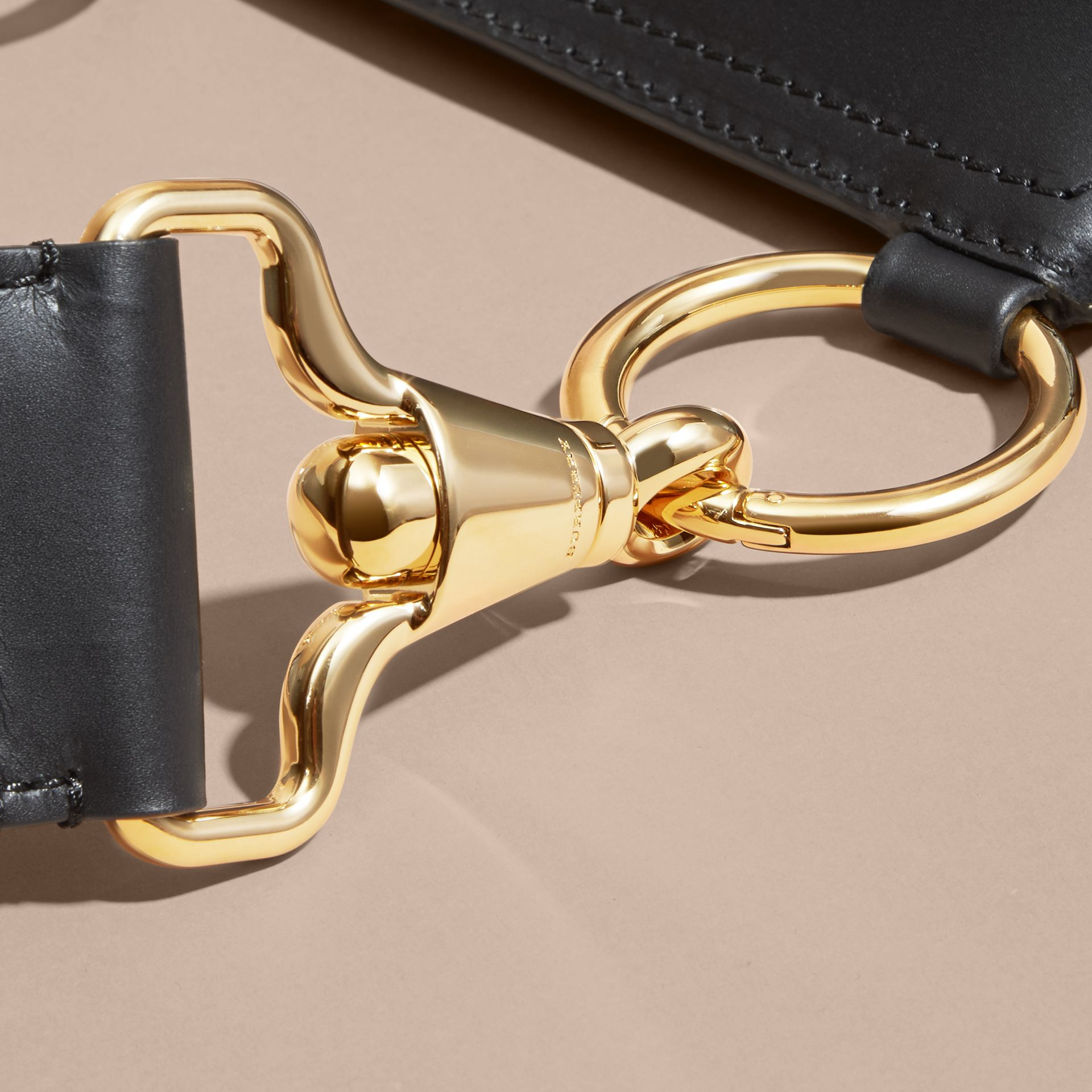 The Bridle Bag in Leather in Black - Women | Burberry Singapore - gallery image 2