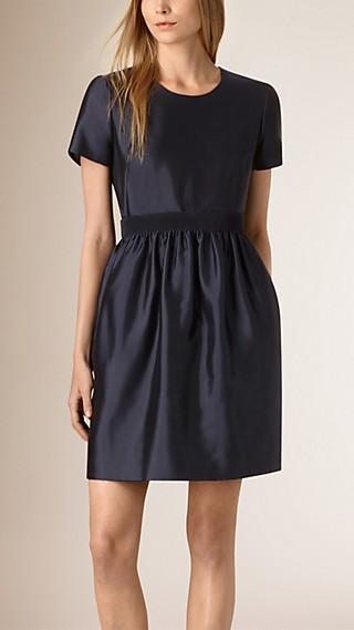 Silk Wool A-line Dress