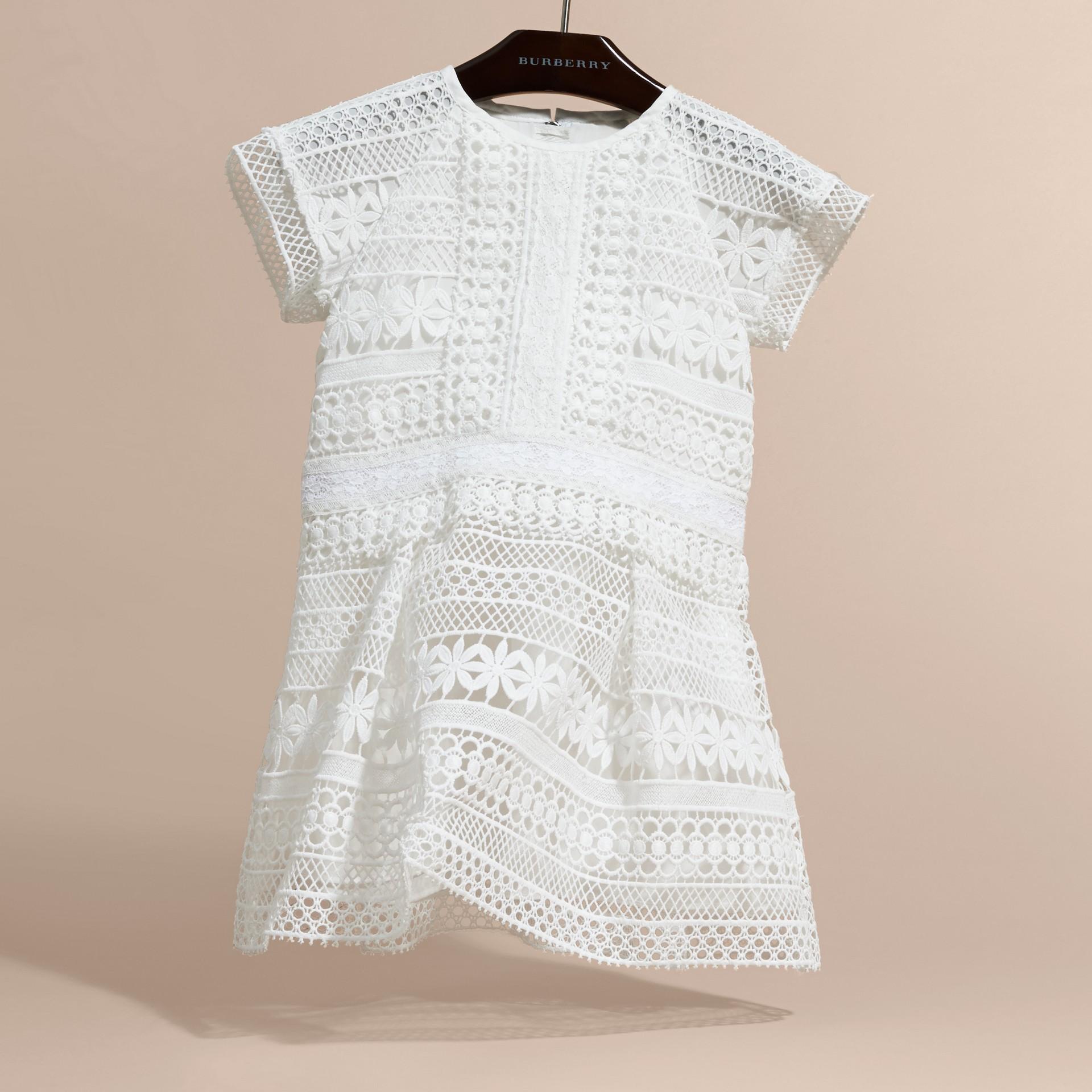Macramé Lace Dropped-waist Dress - gallery image 3