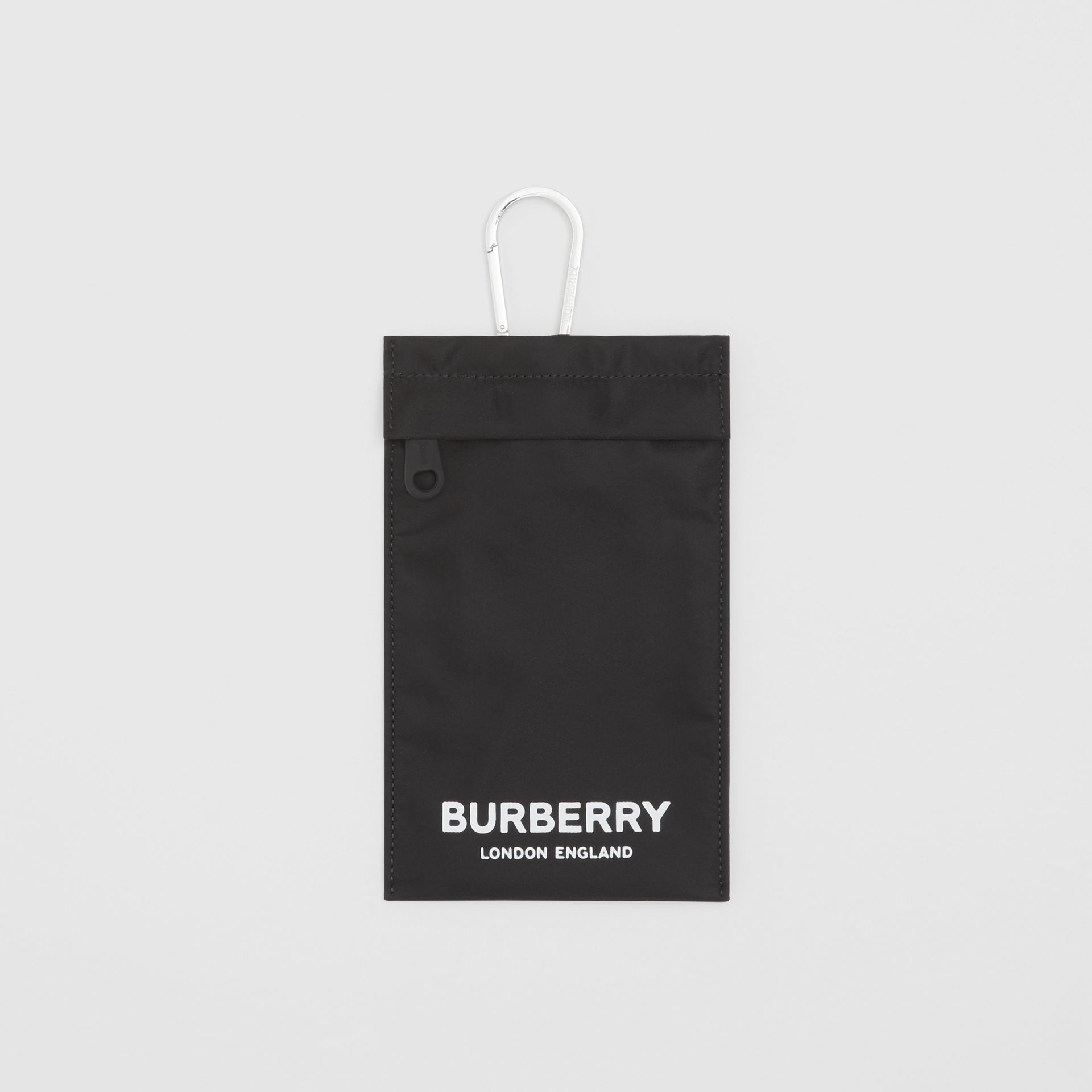 Logo Print Nylon Phone Case in Black - Women | Burberry United States - gallery image 0
