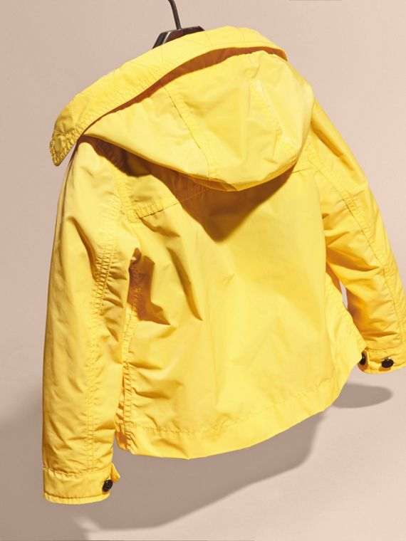 Hooded Packaway Technical Jacket Bright Yellow - cell image 3