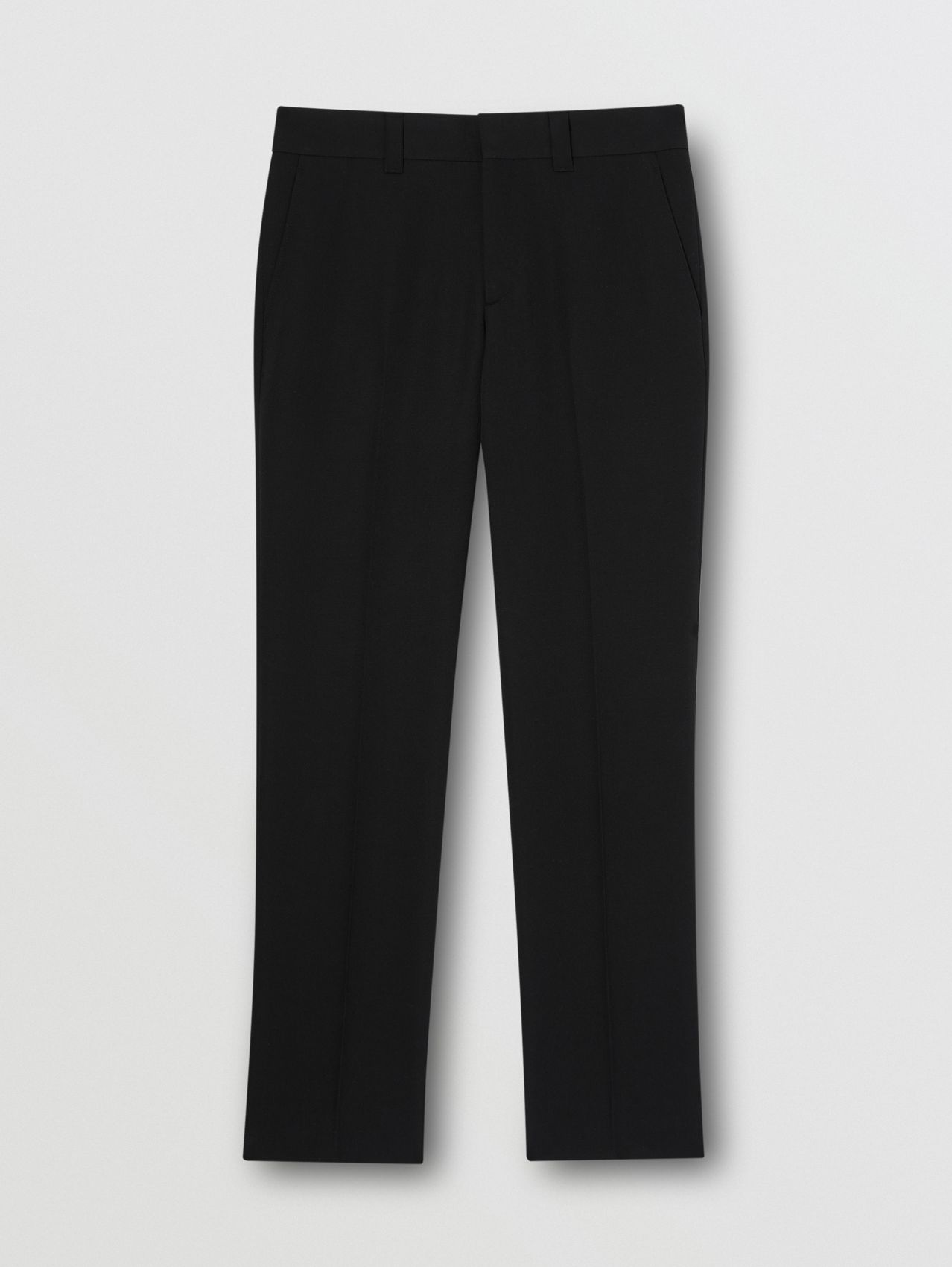 Grain De Poudre Wool Trousers in Black