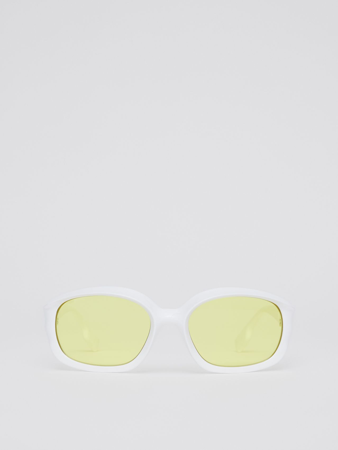 Oval Frame Sunglasses in White