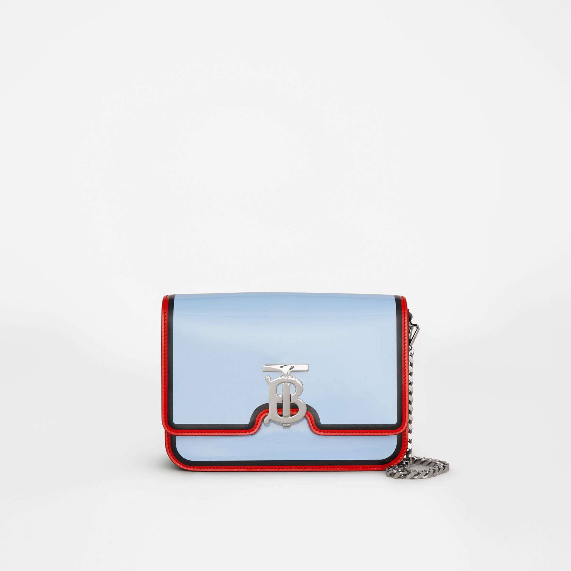 Small Painted Edge Leather TB Bag in Pale Blue - Women | Burberry - gallery image 0