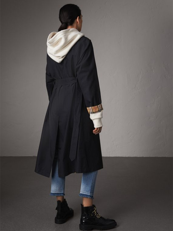 The Brighton – Extra-long Car Coat in Blue Carbon - Women | Burberry - cell image 2