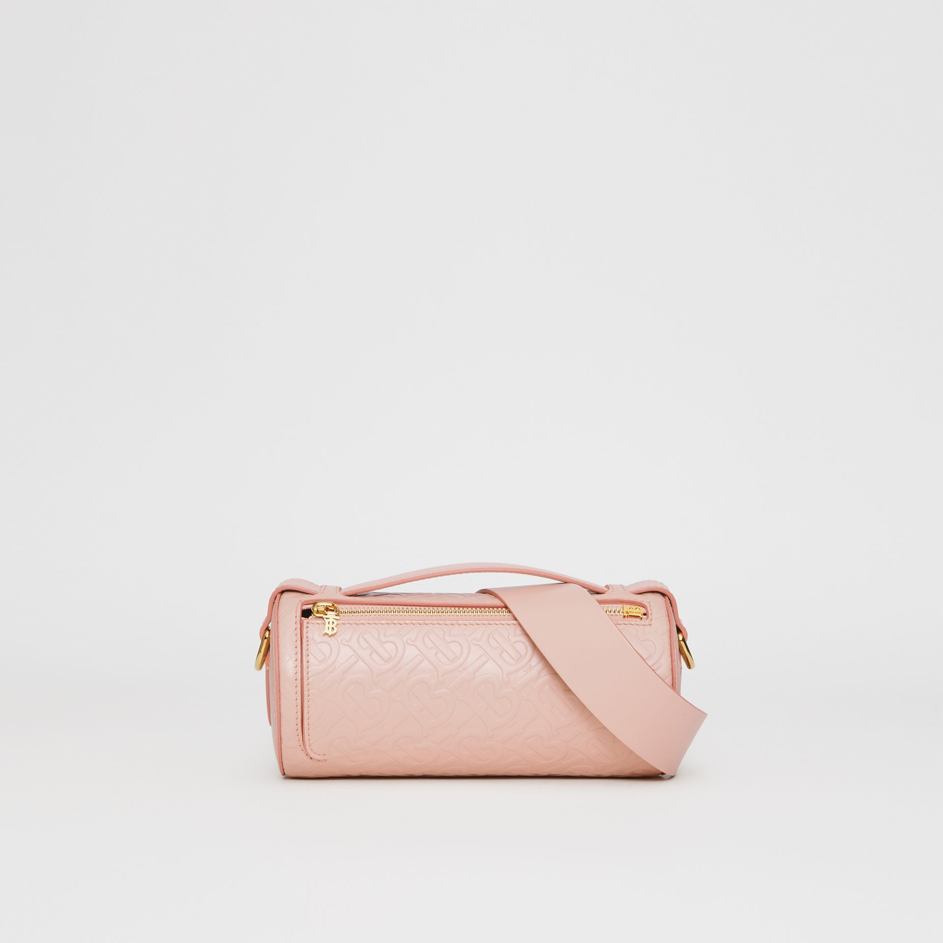 Sac The Barrel en cuir Monogram (Beige Rose) - Femme | Burberry Canada - photo de la galerie 0