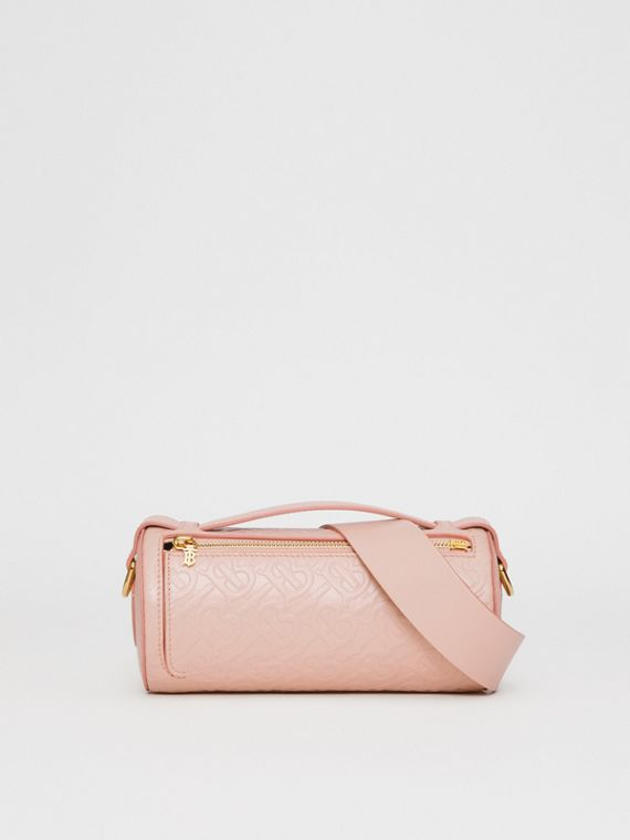 Sac The Barrel en cuir Monogram (Beige Rose)