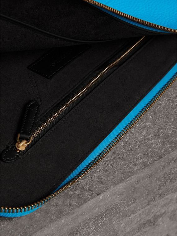 Embossed Leather Document Case in Neon Blue - Men | Burberry United Kingdom - cell image 3