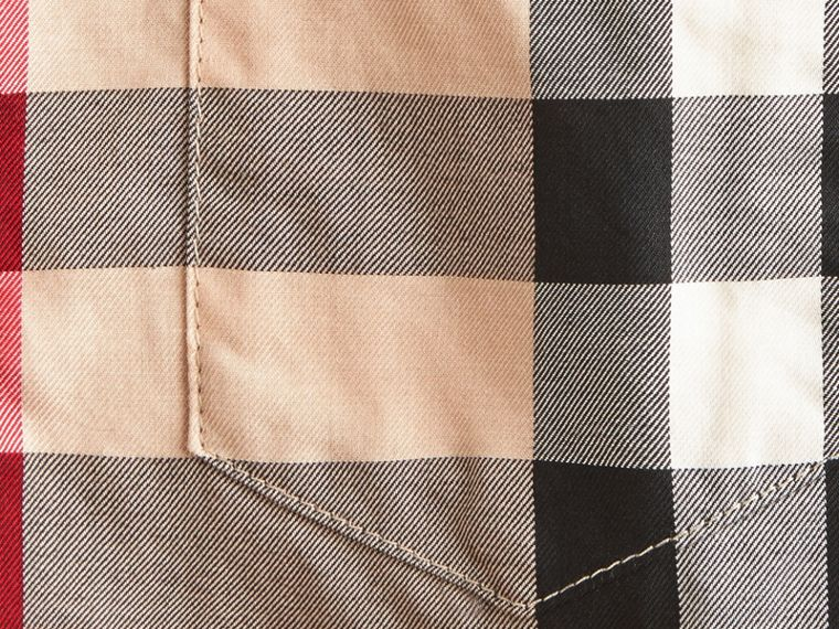 Camicia button-down in cotone con motivo check (New Classic) - Bambino | Burberry - cell image 1