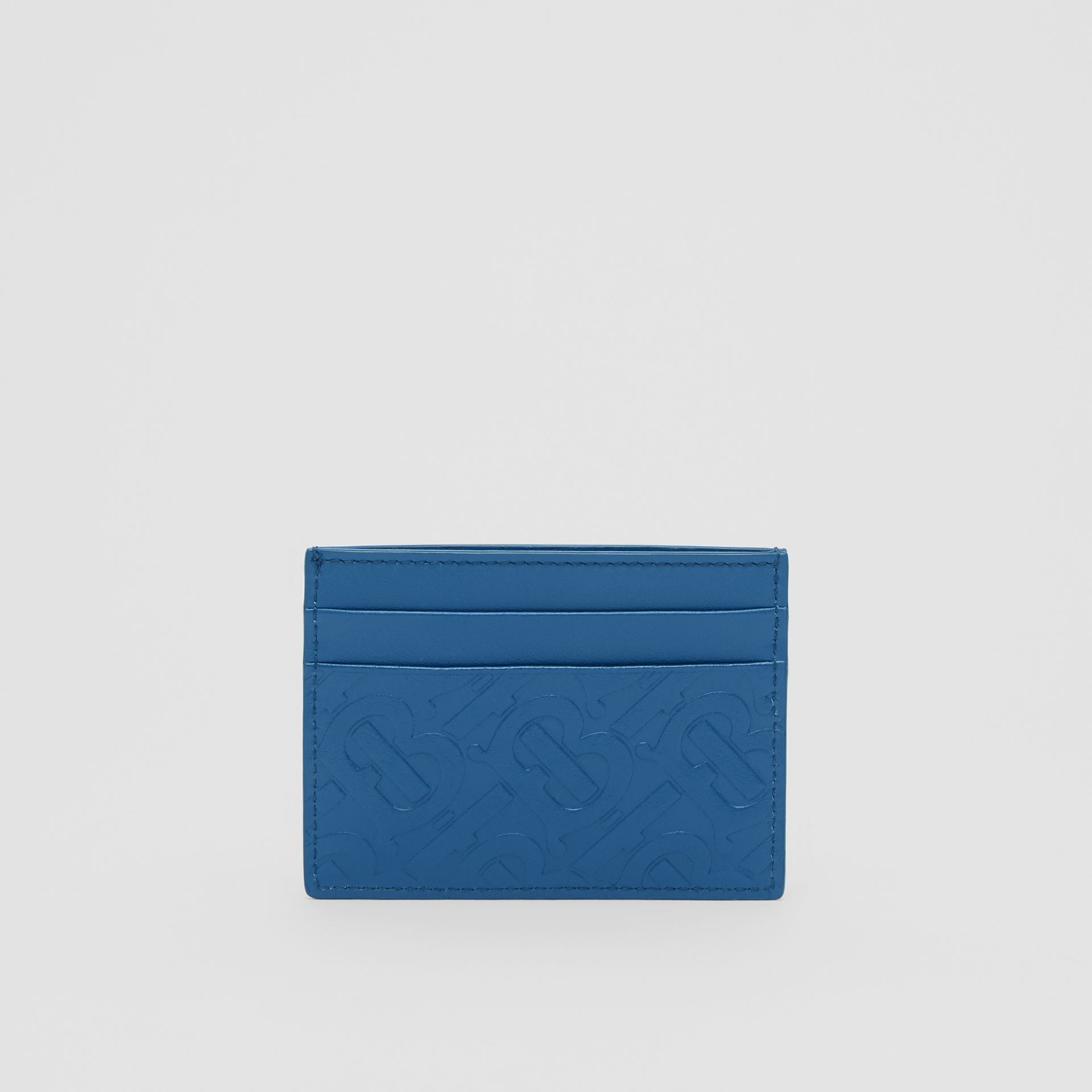 Monogram Leather Card Case in Pale Canvas Blue - Men | Burberry Hong Kong S.A.R - gallery image 4