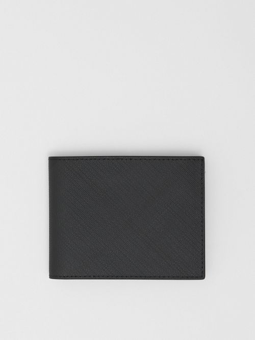 Burberry  London Check and Leather Bifold Wallet