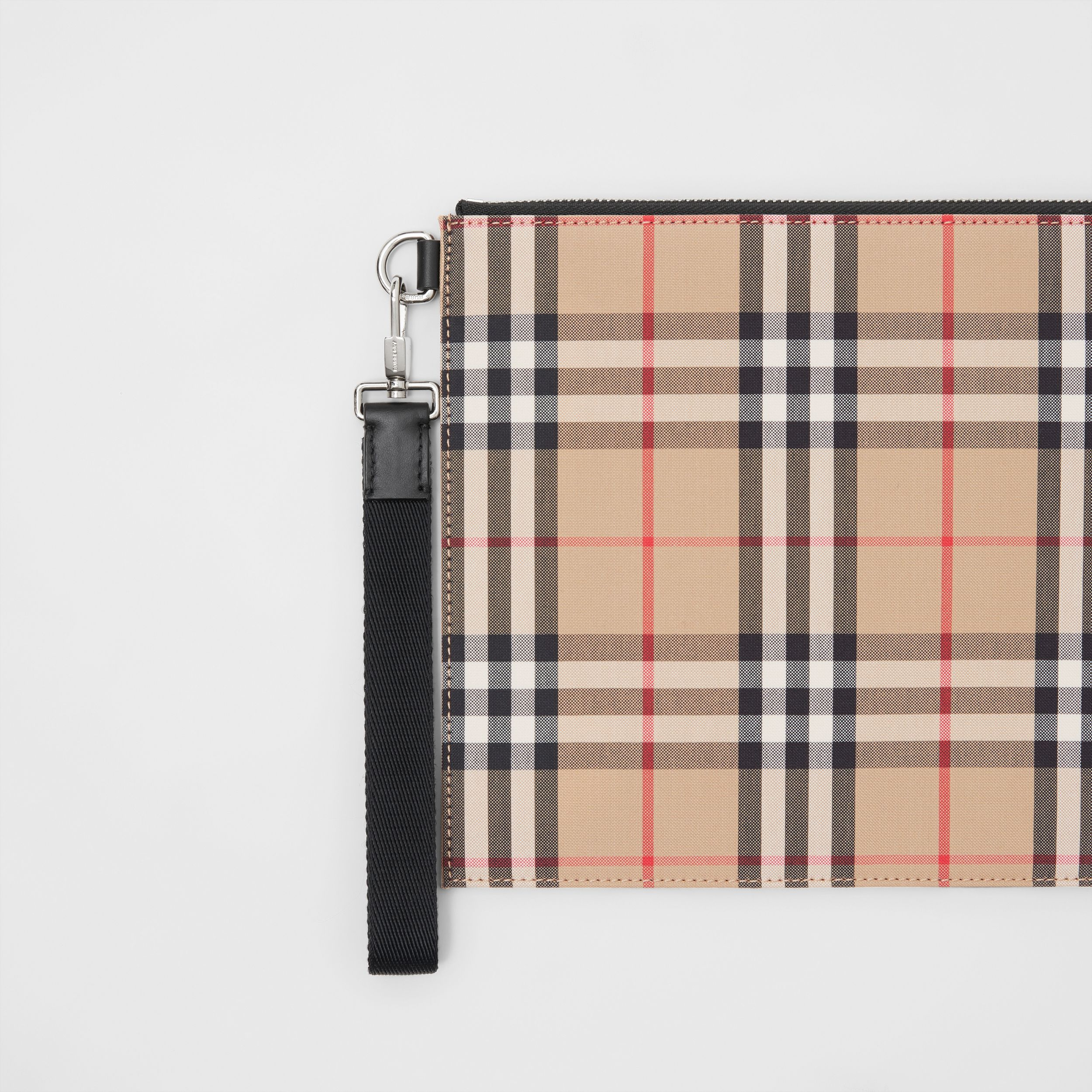 Vintage Check Cotton Zip Pouch in Archive Beige | Burberry Canada - 2