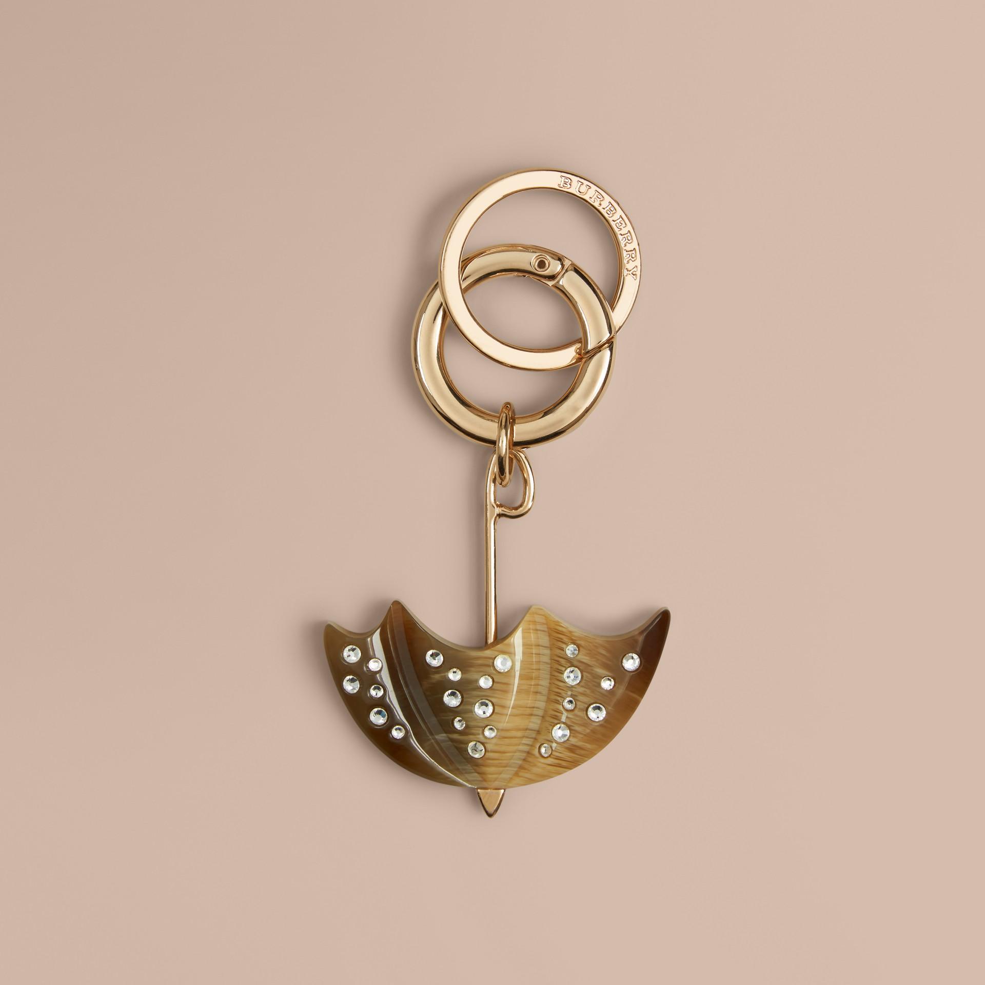 Naturel Bijou porte-clés British Icon parapluie effet corne - photo de la galerie 1