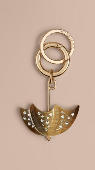 British Icon Horn Look Umbrella Key Charm