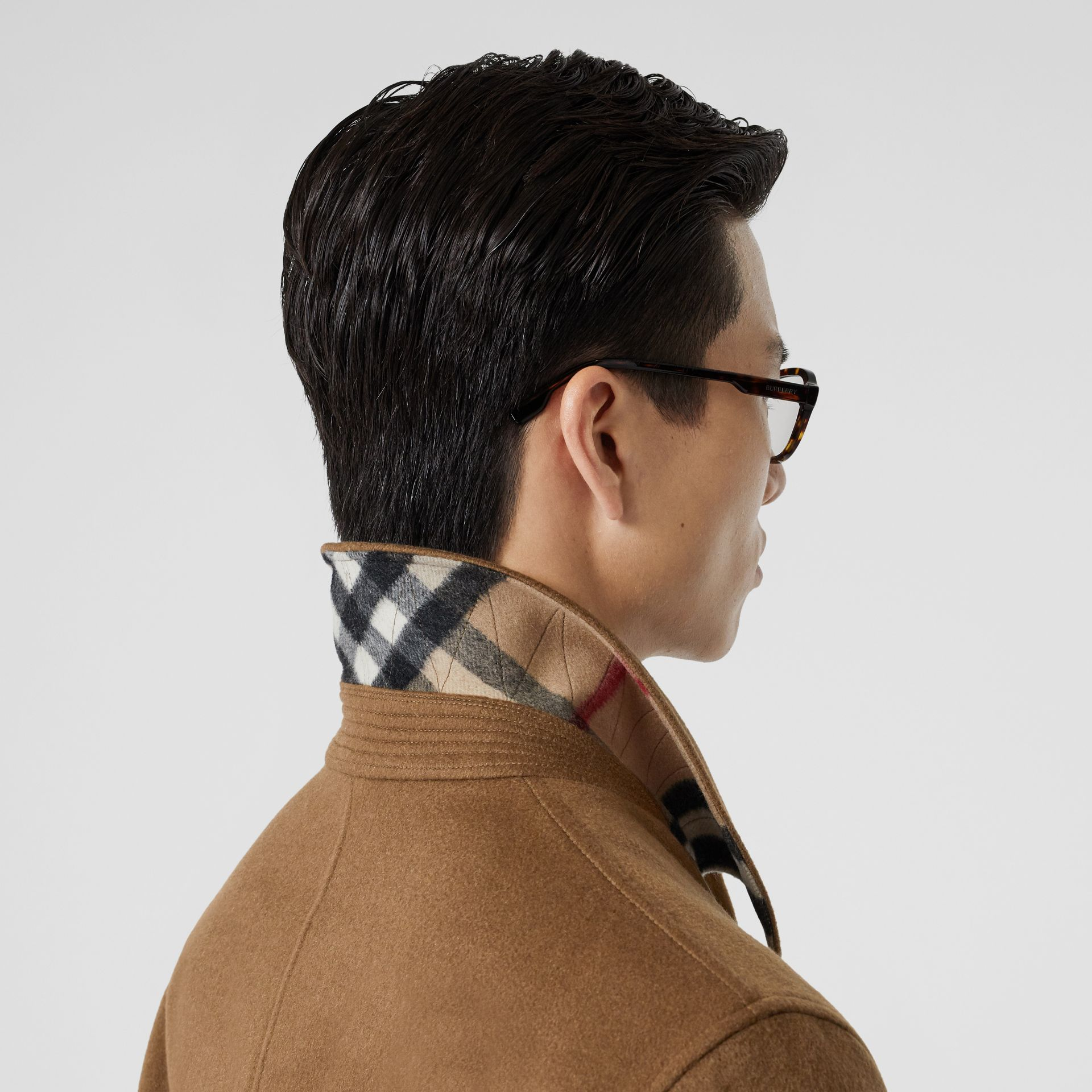 Cashmere Car Coat in Dark Camel - Men | Burberry Hong Kong S.A.R - gallery image 4