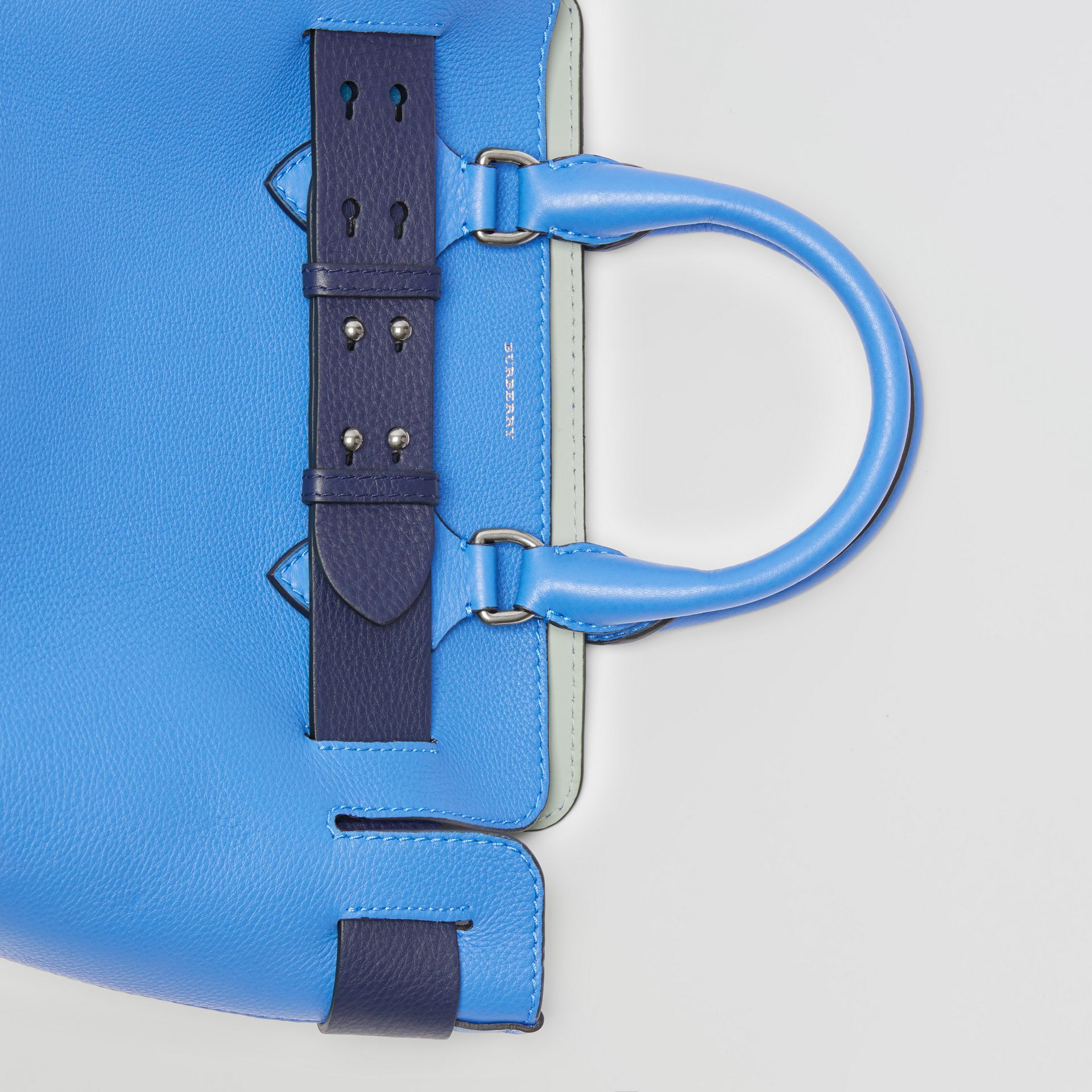 The Small Leather Belt Bag in Hydrangea Blue - Women | Burberry United Kingdom - gallery image 1