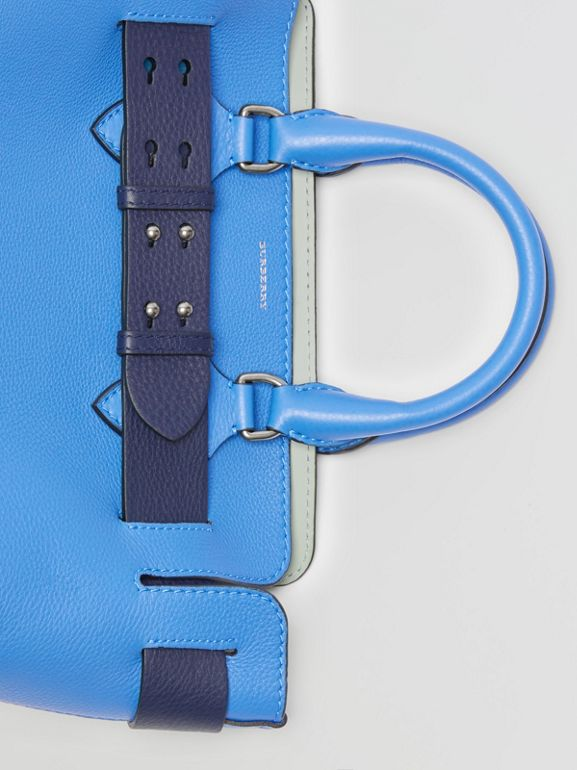 The Small Leather Belt Bag in Hydrangea Blue - Women | Burberry Australia - cell image 1
