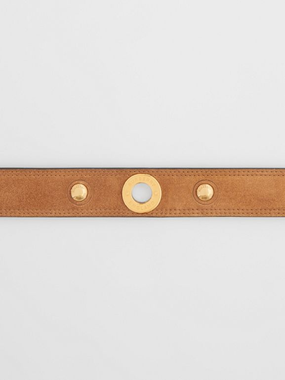 Triple Stud Leather Belt in Honey - Women | Burberry Australia - cell image 1