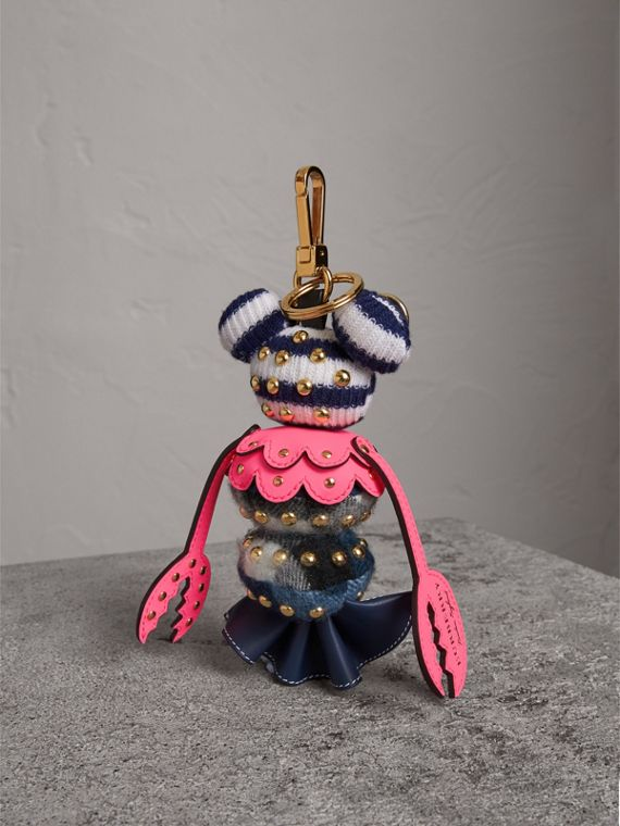 Hugo The Lobster Cashmere Charm in Navy Multicolour | Burberry - cell image 3