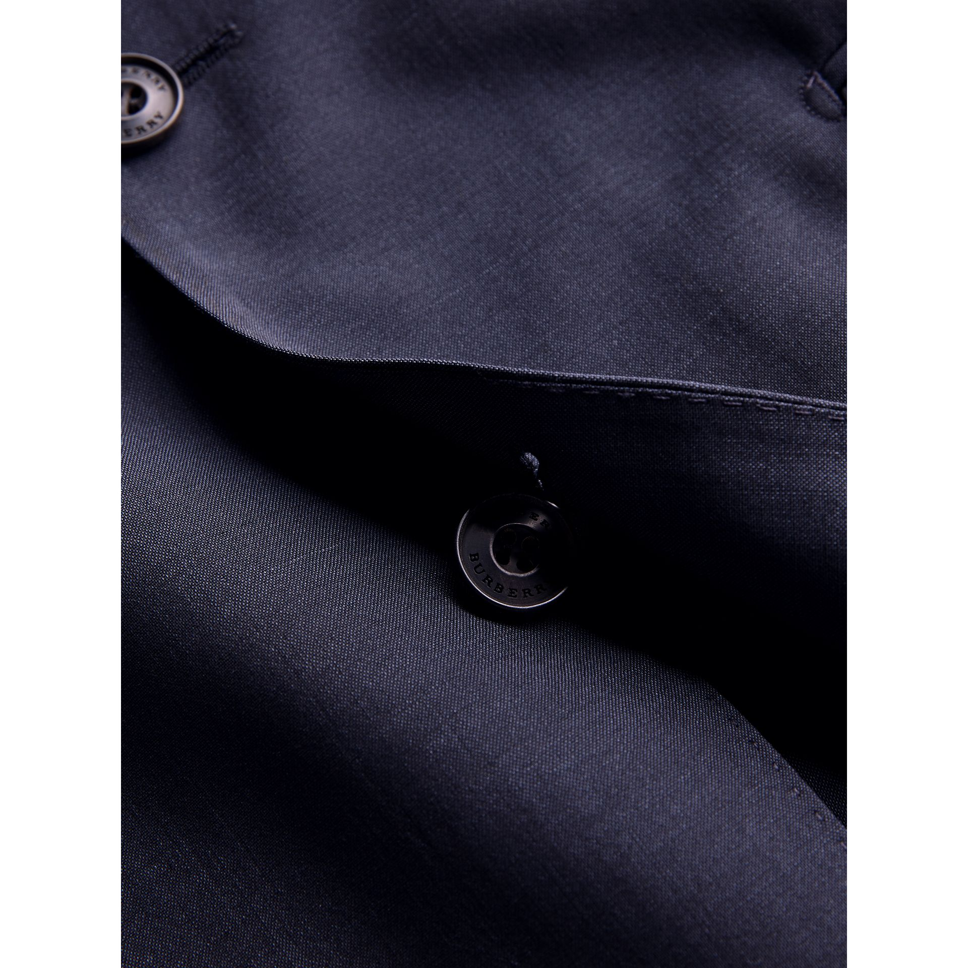 Soho Fit Wool Mohair Suit in Dark Navy - Men | Burberry United Kingdom - gallery image 1