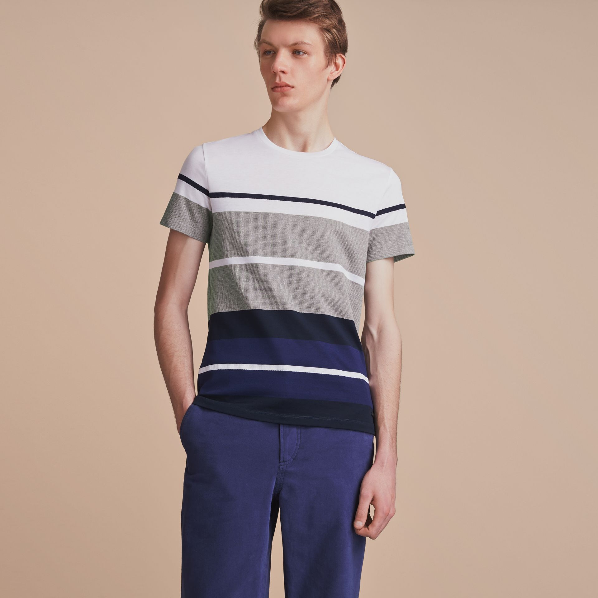 Striped Cotton T-shirt - gallery image 6