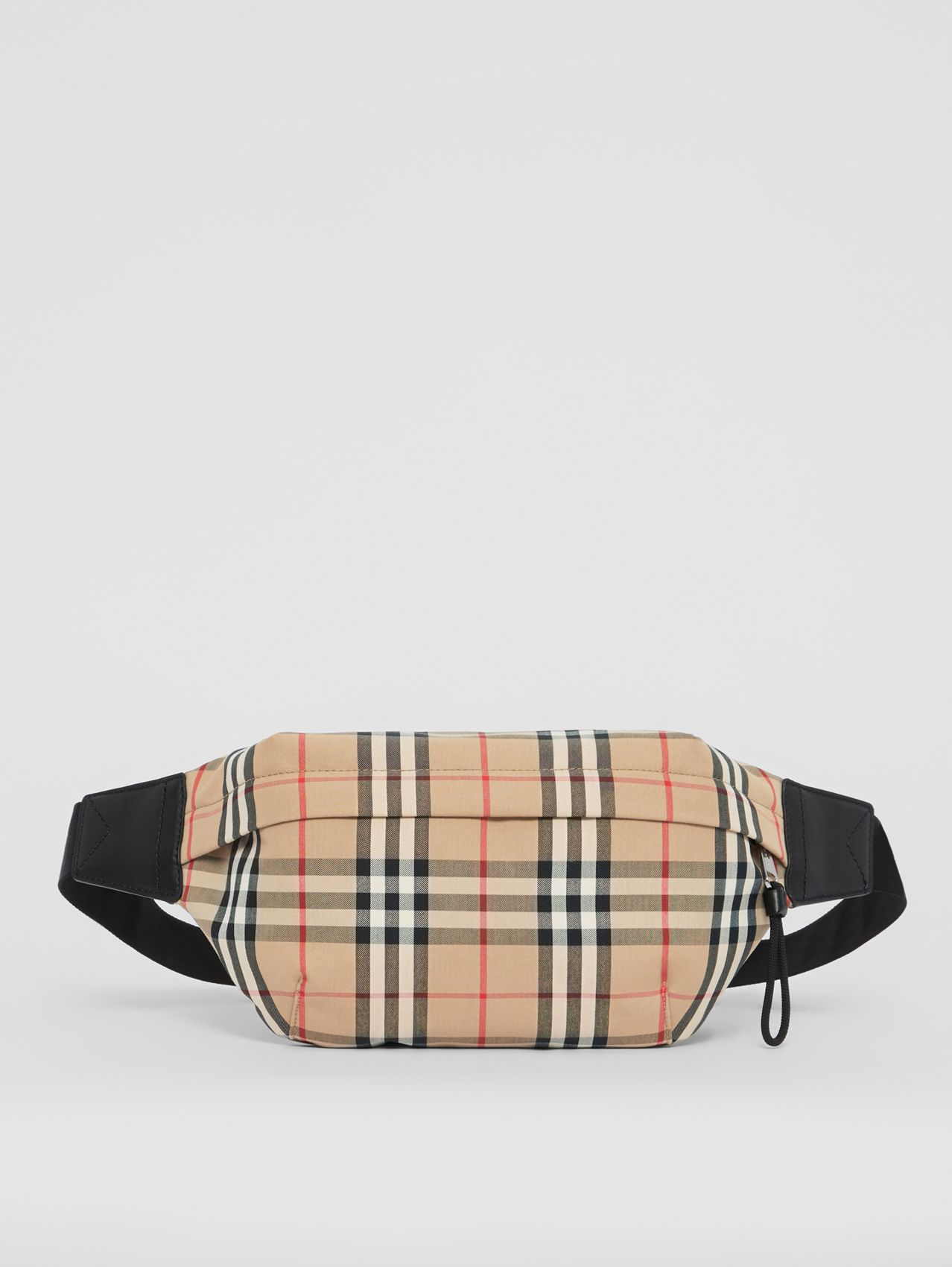 Medium Vintage Check Bonded Cotton Bum Bag (Archive Beige)