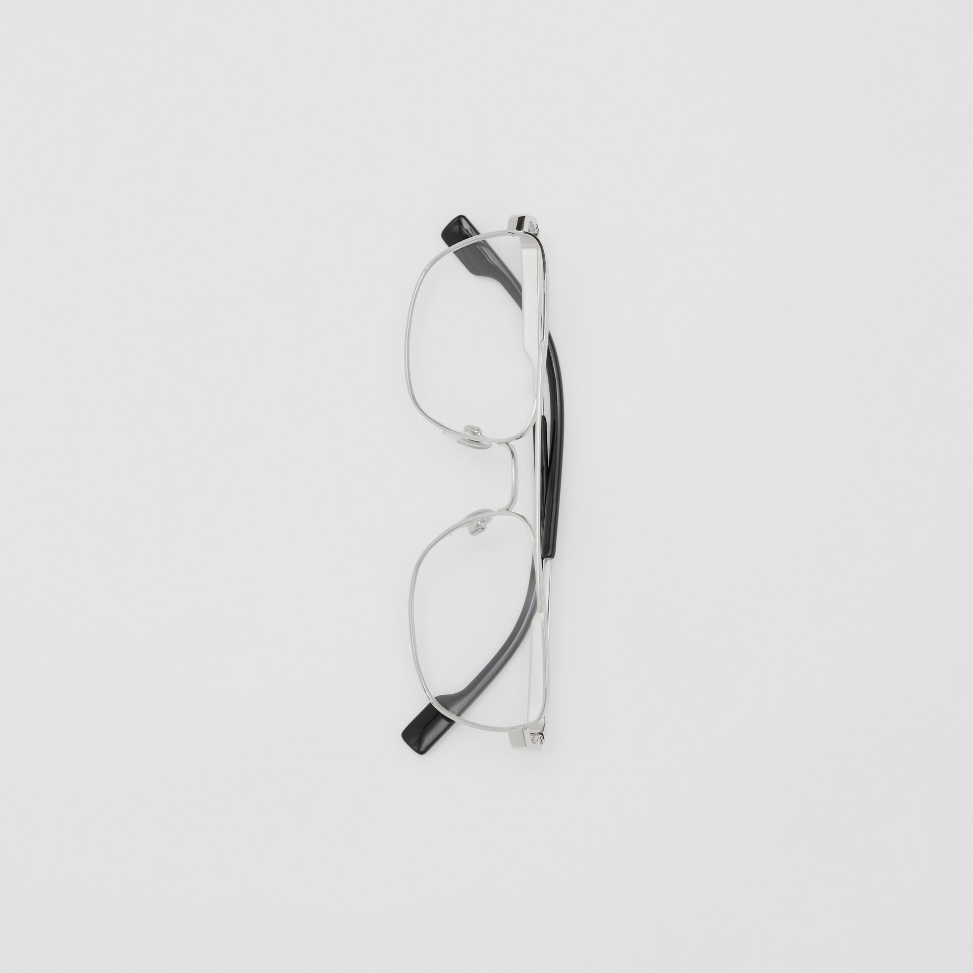 Rectangular Navigator Optical Frames in Silver | Burberry - gallery image 3