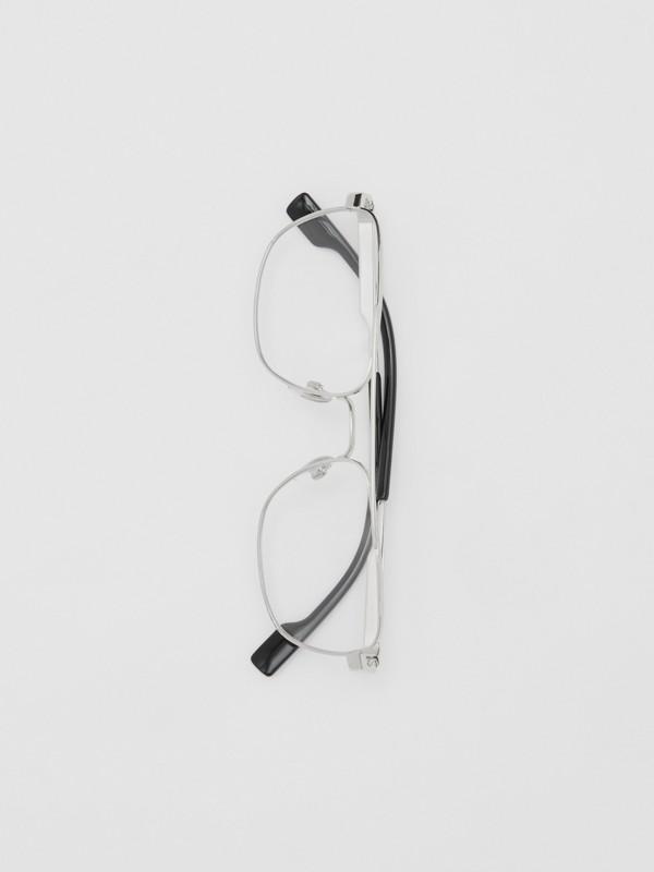 Rectangular Navigator Optical Frames in Silver | Burberry - cell image 3
